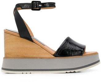 Paloma Barceló Buckled Wedge Sandals