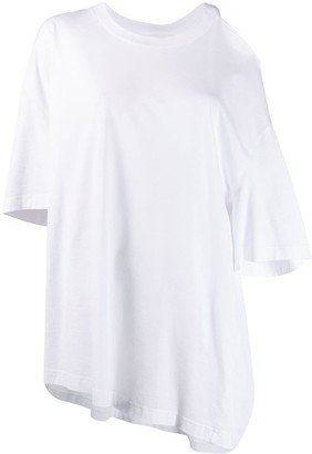 Maison Margiela cut-out shoulder asymmetric T-shirt