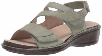 Aravon womens Cambridge 3 Strap Wedge Sandal