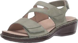 Aravon womens Cambridge 3 Strap Wedge Sandal