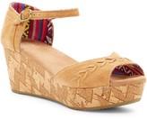 Toms Brown Festival Platform Wedge Sandal