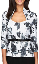 Alex Evenings Floral Stand Collar Top