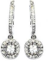 Gemma Collection Silver Diamond Huggies