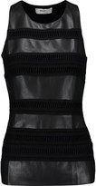 Bailey 44 Paneled faux leather and stretch-jersey tank