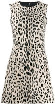 Dolce & Gabbana Animal Print Flared Mini Dress