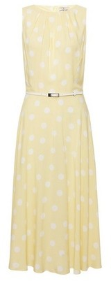 Dorothy Perkins Womens Billie & Blossom Tall Lemon Spot Print Midi Dress