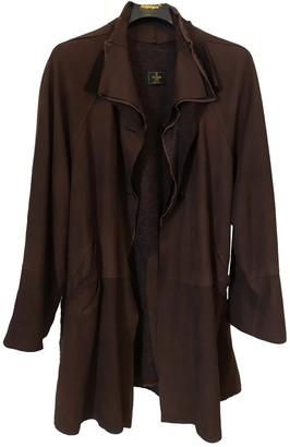 Fendi Brown Suede Coats