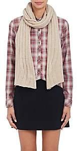 Barneys New York Women's Rib-Knit Cashmere-Silk Scarf - Beige