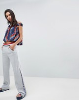Tommy Hilfiger Gigi Hadid Zip Flare Tracksuit Bottoms With Stipe Waistband