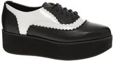 Shellys London Dubec Flatform Kiltie Shoes - Black