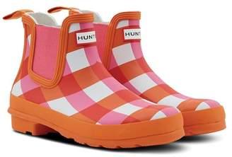 Hunter Gingham Chelsea Rain Boot