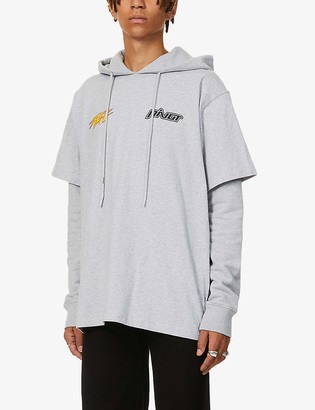 Off-White Thunder graphic-print cotton-jersey hoody