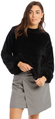 Tokito Black Fluffy Bell Sleeve Jumper