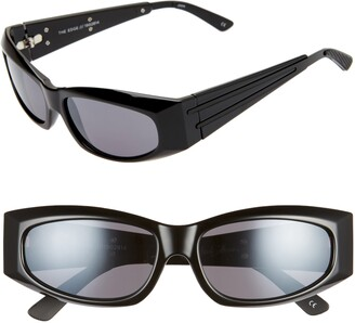 Le Specs Adam Selman X Luxe The Edge 55mm Wrap Sport Sunglasses