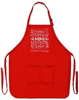 Mother's Day Gift It's a Mimi Thing You Wouldn't Understand Funny Apron for Kitchen BBQ Barbecue Cooking Baking Crafting Gardening Two Pocket Apron for Great Grandma or Mom Red