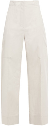 Brunello Cucinelli Cropped Stretch-cotton Wide-leg Pants