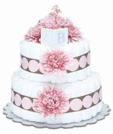 Bloomers Baby Diaper Cake Modern Pink Mums 2-Tier by