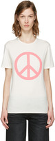 6397 Ssense Exclusive White Peace Ny T-shirt