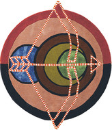 Thumbnail for your product : Ted Baker Zodiac Round Rug - Sagittarius
