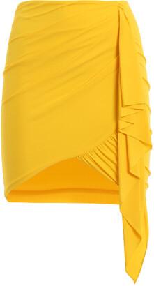 Alexandre Vauthier Draped Waterfall Mini Skirt