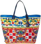 Dolce & Gabbana Print Canvas Tote Tote Handbags