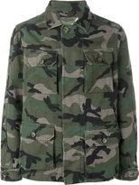 Valentino camouflage military jacket