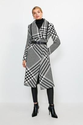 Karen Millen Oversized Check Belted Coat
