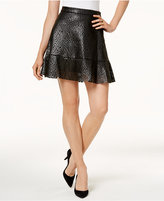 MICHAEL Michael Kors Faux-Leather A-Line Skirt