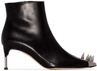 Alexander McQueen spike-embellished ankle boots