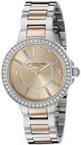 Stuhrling Original Women's Quartz Watch with Rose Gold Dial Analogue Display and Multicolour Stainless Steel Bracelet 480.03