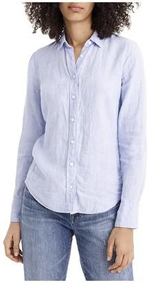 J.Crew Slim Perfect Shirt in Irish Linen (French Blue) Women's Clothing