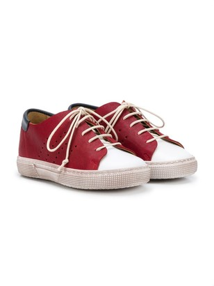 Pépé Kids Contrast Panel Sneakers