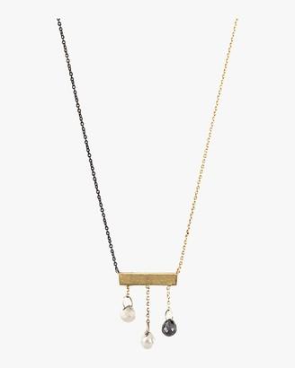 Harika Diamond Briolette Bar Necklace