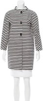 Kate Spade Striped Collarless Jacket