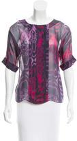 Jason Wu Silk Abstract Print Top