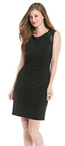 Anne Klein Dress with Faux Leather Detail