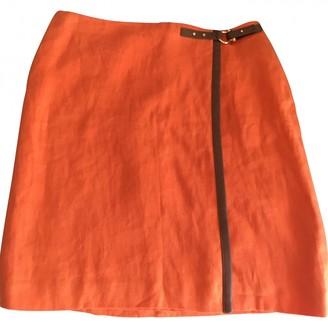 Lauren Ralph Lauren Orange Linen Skirt for Women