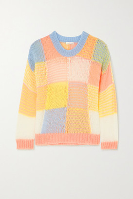Stine Goya Sana Color-block Open-knit Sweater - Pink