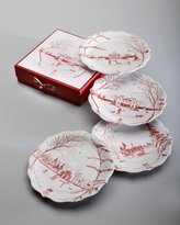 Juliska Ruby Winter Frolic Party Plates, Set of 4