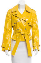 Dolce & Gabbana Double-Breasted Patent Leather Jacket w/ Tags