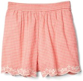 Gap Eyelet gingham shorts