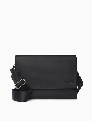 Calvin Klein Refined Leather Messenger Bag