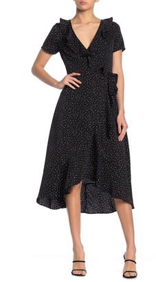 Hyfve Polka Dot Wrap Midi Dress