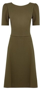 Dorothy Perkins Womens Tall Khaki Fit And Flare Dress