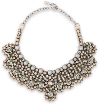 Valentino Garavani Crystal, Faux Pearl And Satin Necklace
