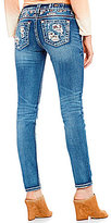 Miss Me Destructed Stretch Frayed Hem Skinny Jeans