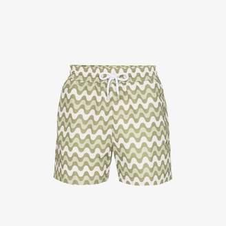 Frescobol Carioca wave stripe swim shorts
