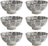 "Torre & Tagus Kiri Porcelain 6"" Medium Bowl (Set of 6)l"