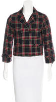Boy By Band Of Outsiders Plaid Cropped Jacket