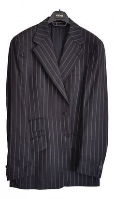 Versace Black Wool Suits